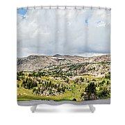 Beartooth Mountains Panorama Shower Curtain