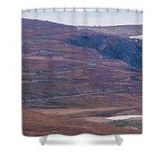 Beartooth Switchbacks Shower Curtain