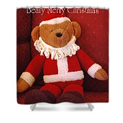 Beary Merry Christmas  Shower Curtain