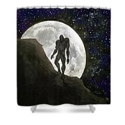Beast At Full Moon Shower Curtain