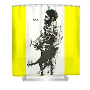 Beastly Birds And The Feral Swine Hunter Shower Curtain
