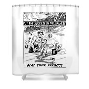 Beat Your Promise Cartoon  Shower Curtain