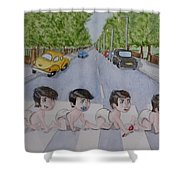Beatles Abbey Road .... Babies Shower Curtain