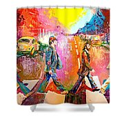 Beatles Abbey Road  Shower Curtain
