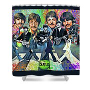 Beatles Fan Art Shower Curtain