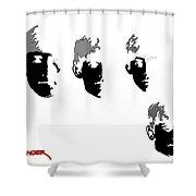 Beatles Meet The Negative Shower Curtain