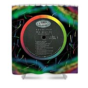 Beatles Revolver Rainbow Lp Label Shower Curtain