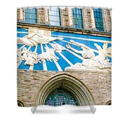 Beauiful Church Design In New York City Shower Curtain