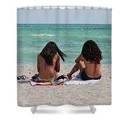 Beauties On The Beach Shower Curtain