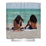 Beauties On The Beach Shower Curtain