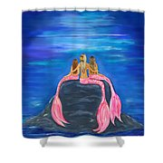 Beauties On The Rock Shower Curtain