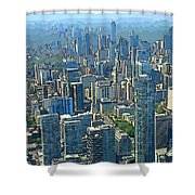 Beautiful Abstract Toronto Shower Curtain