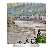 Beautiful Afternoon On The Ganges Shower Curtain