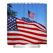 Beautiful American Flags Shower Curtain