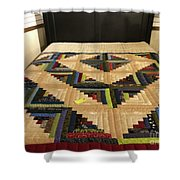 Beautiful Amish Quilt Shower Curtain