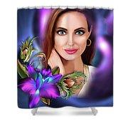 Beautiful Angie Shower Curtain
