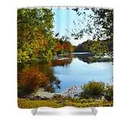 Willow Pond, Caleb Smith Preserve Shower Curtain