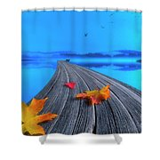 Beautiful Autumn Morning Shower Curtain
