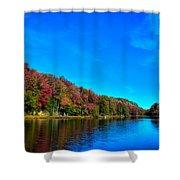 Beautiful Autumn Reflections On Bald Mountain Pond Shower Curtain