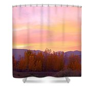 Beautiful Autumn Sunset Shower Curtain