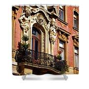 Beautiful Balcony In Austria Shower Curtain