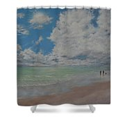 Beautiful Beach Day Shower Curtain