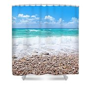 Beautiful Beach Panoramic Landscape Shower Curtain