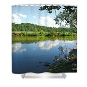 Beautiful Blue Water Shower Curtain