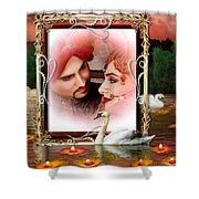 Beautiful Bridal Couple In Love Shower Curtain