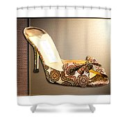 Beautiful Brocade Slippers For A Ball Shower Curtain