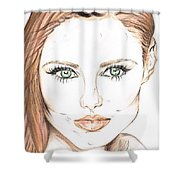 Brunette- So Beautiful  Shower Curtain