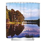Beautiful Bunn Lake - Zebulon, North Carolina Shower Curtain