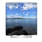 Beautiful Calm Ocean Water's In Casco Bay Maine Shower Curtain