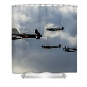 Beautiful Classics In Formation Shower Curtain