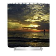 Beautiful Clearwater Sunset Shower Curtain