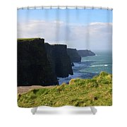Beautiful Cliff's Of Moher In Liscannor Ireland Shower Curtain