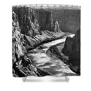 Beautiful Colorado River Page Arizona Blk Wht  Shower Curtain