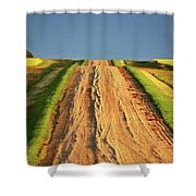 Beautiful Colors Along A Saskatchewan Country Road Shower Curtain