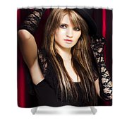 Beautiful Costumed Young Showgirl Shower Curtain