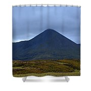 Beautiful Countryside In Cuillen Hills With A Large Mountain  Shower Curtain
