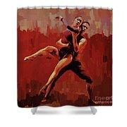 Beautiful Couple Dance 02 Shower Curtain