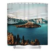 Beautiful Crater Lake Shower Curtain
