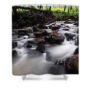Beautiful Creek In Western Ghats Region Of Karnataka State India Shower Curtain