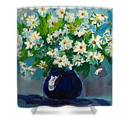 Beautiful Daisies Shower Curtain by Patricia Awapara