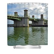 Beautiful Day At The Bridge Of Lions Shower Curtain