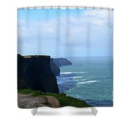 Beautiful Day At The Cliff's Of Moher In Ireland Shower Curtain