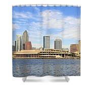 Beautiful Day Tampa Bay Shower Curtain by David Lee Thompson