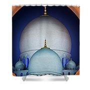 Beautiful Detail At Mosque, Abu Dhabi, United Arab Emirates Shower Curtain