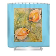 Beautiful Exotic Butterfly Fish Shower Curtain