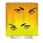 Beautiful Eyes Shower Curtain